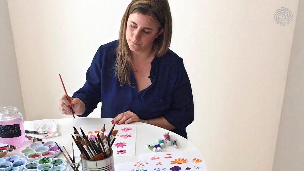 La artista Male Clairá en su taller