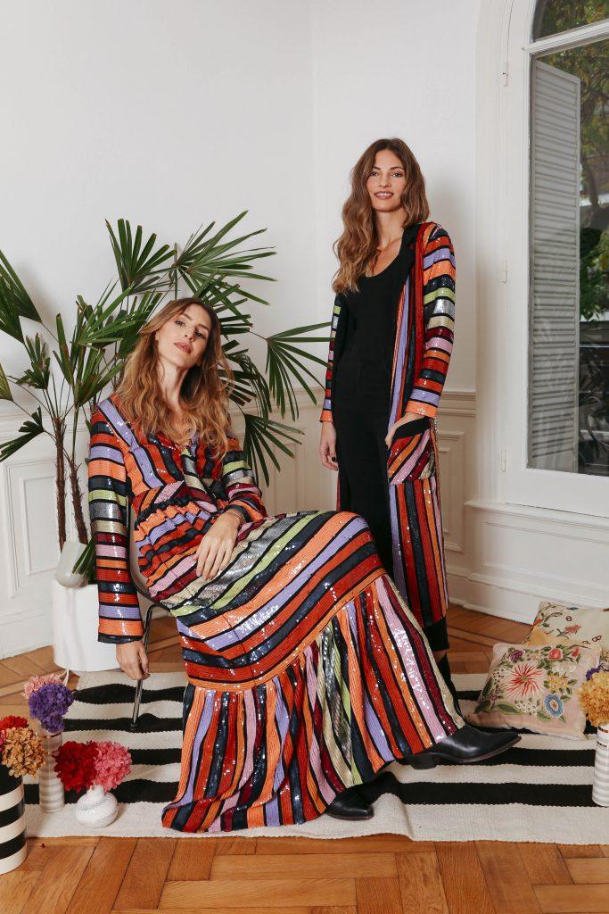 Algunos de los vestidos de noche que Vero Alfie vende en Estados Unidos