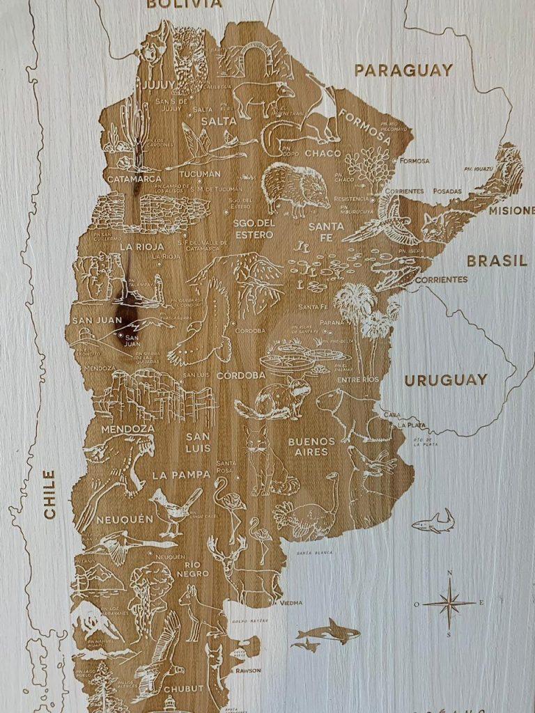 El último mapa de Argentina muestra los parques nacionales y las especies en peligro