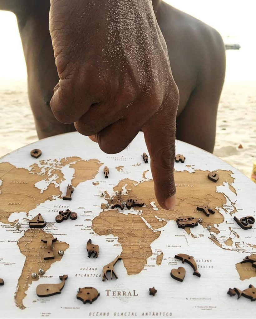 Cada mapa se puede marcar con sus pins