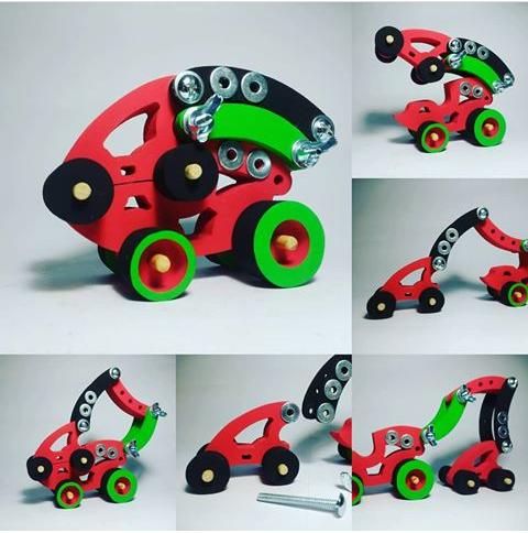 Los juguetes de INF Toys se arman y desarman, potenciando la creatividad