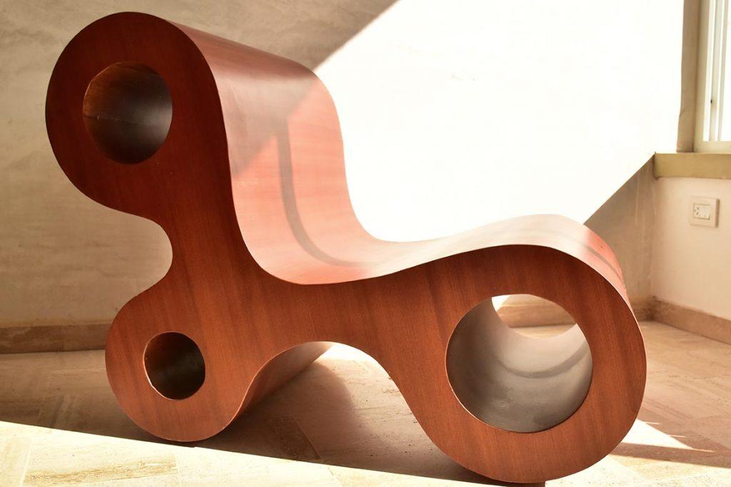 Sillón de madera, prototipo construido a escala 1:1.