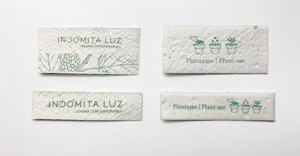 Etiquetas plantables by Indómita Luz