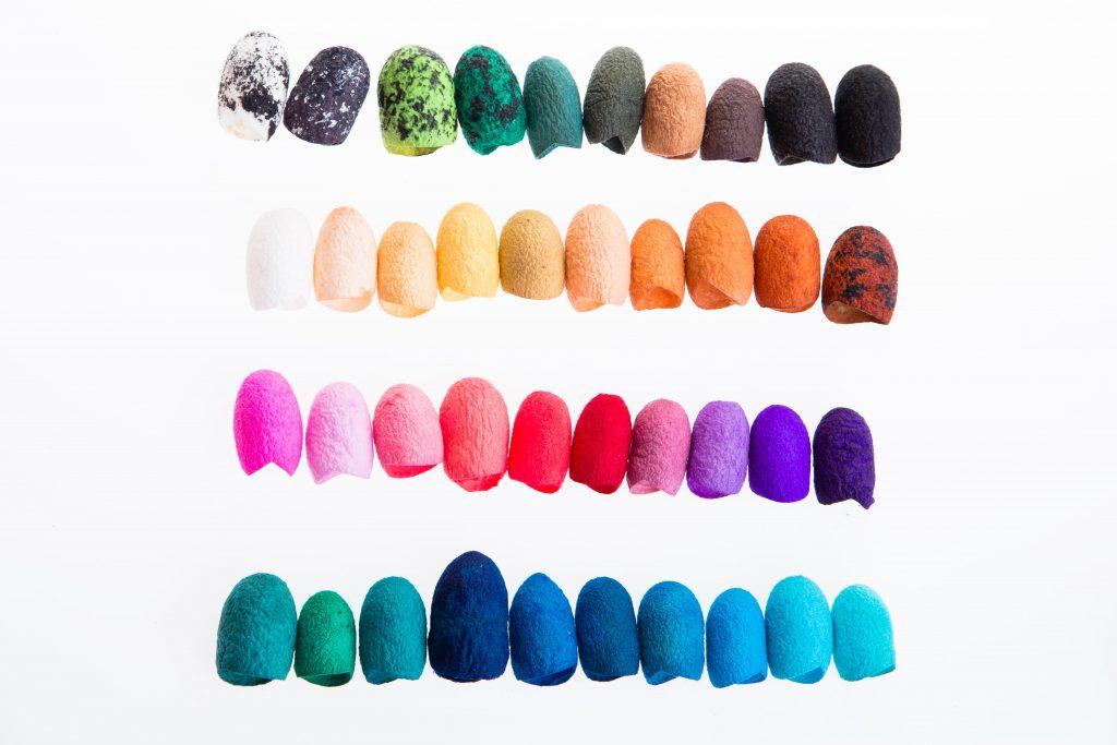 Colores logrados a partir de tintes naturales