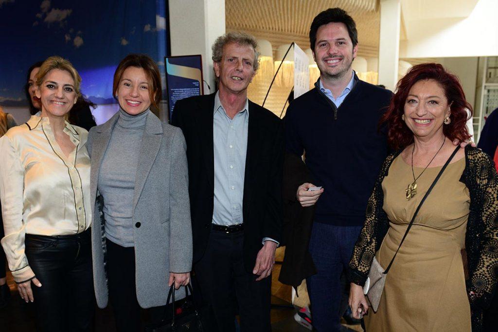 María Pía Cardoso Magri junto a Pía Fradusco, de Circuito Arenales, Marcos Malbrán Director de Casa FOA, Juan Astibia y la arquitecta Mónica Cohen, mentora de PuroDiseño.