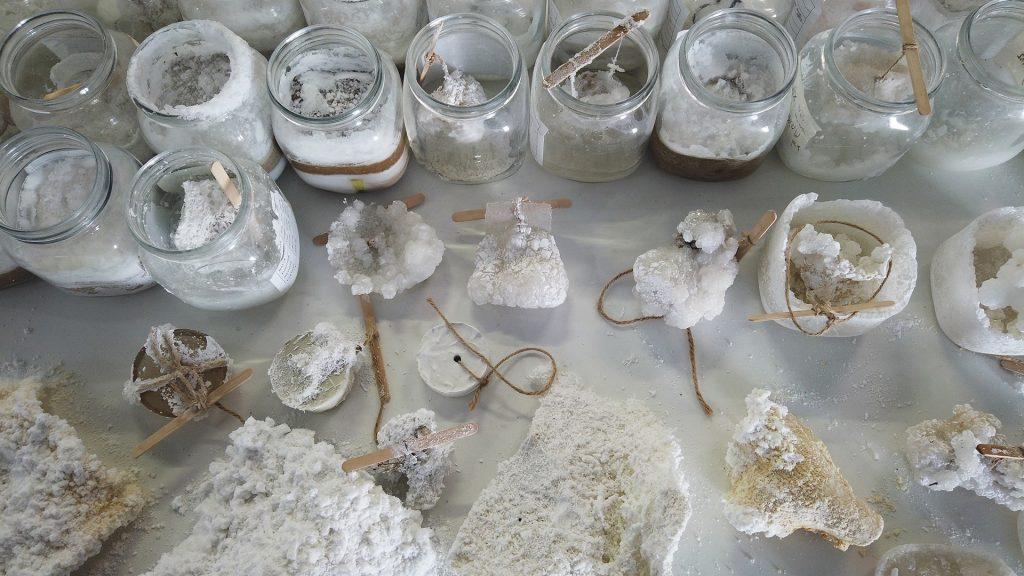 Nuevo material sustentable. Sal cristalizada para reemplazar al cemento