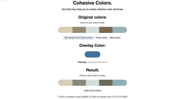 El uso del color. Cohesive-Colors