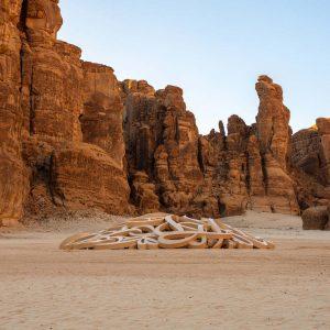 Arte en el desierto de Arabia Saudita
