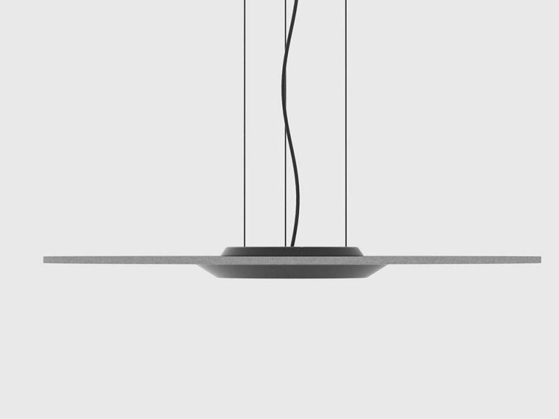 Lámpara fonoabsorbente. Innovación