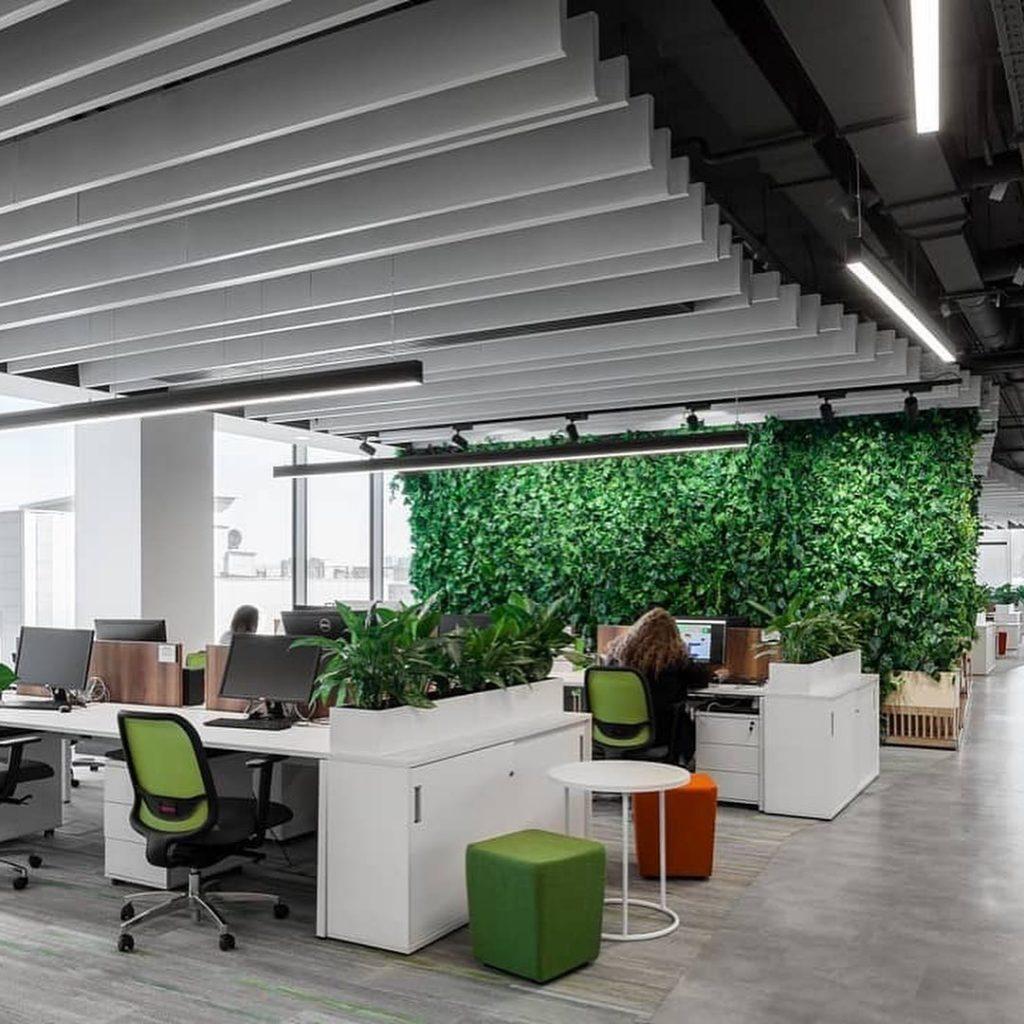 Verde en los espacios interiores