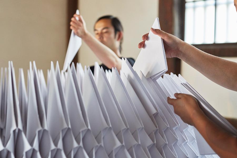 Una casa de té de papel