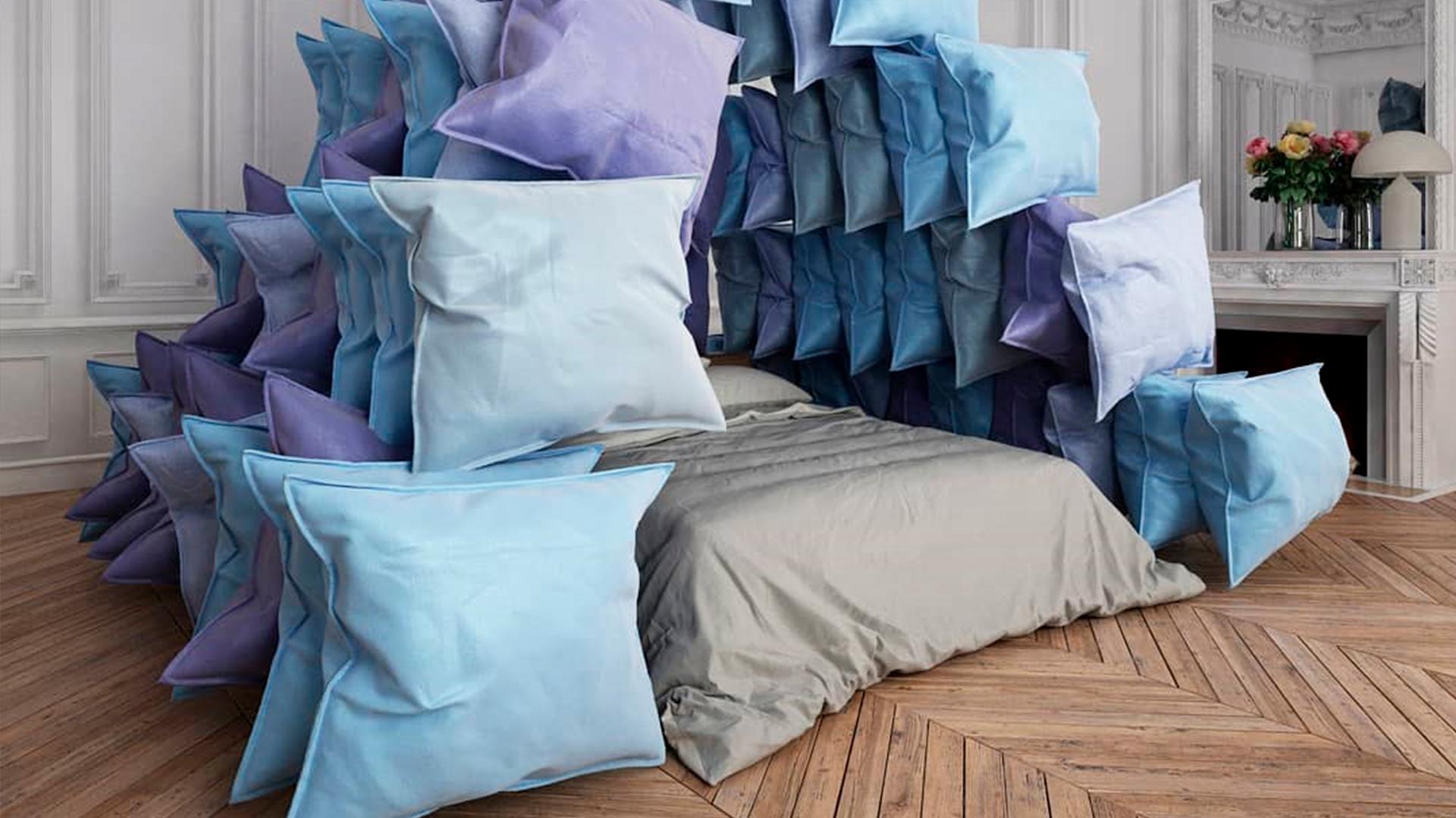 Pirámide de almohadas. Covid 19