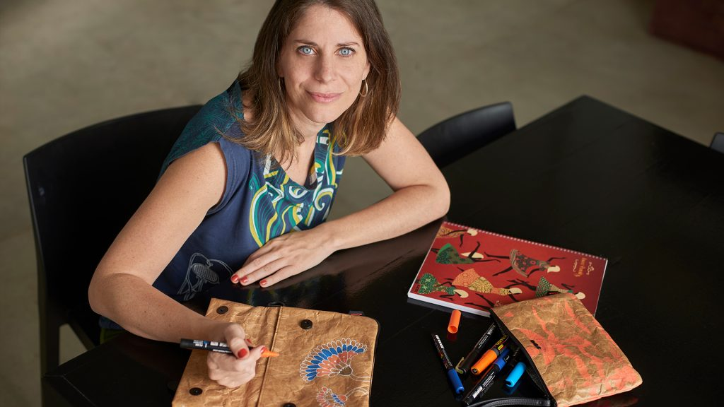 La ilustradora Laura Varsky