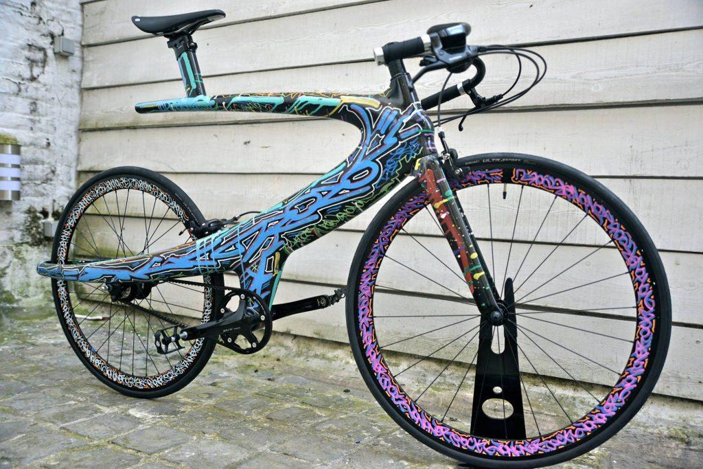 Bicicletas con diseño. Arte