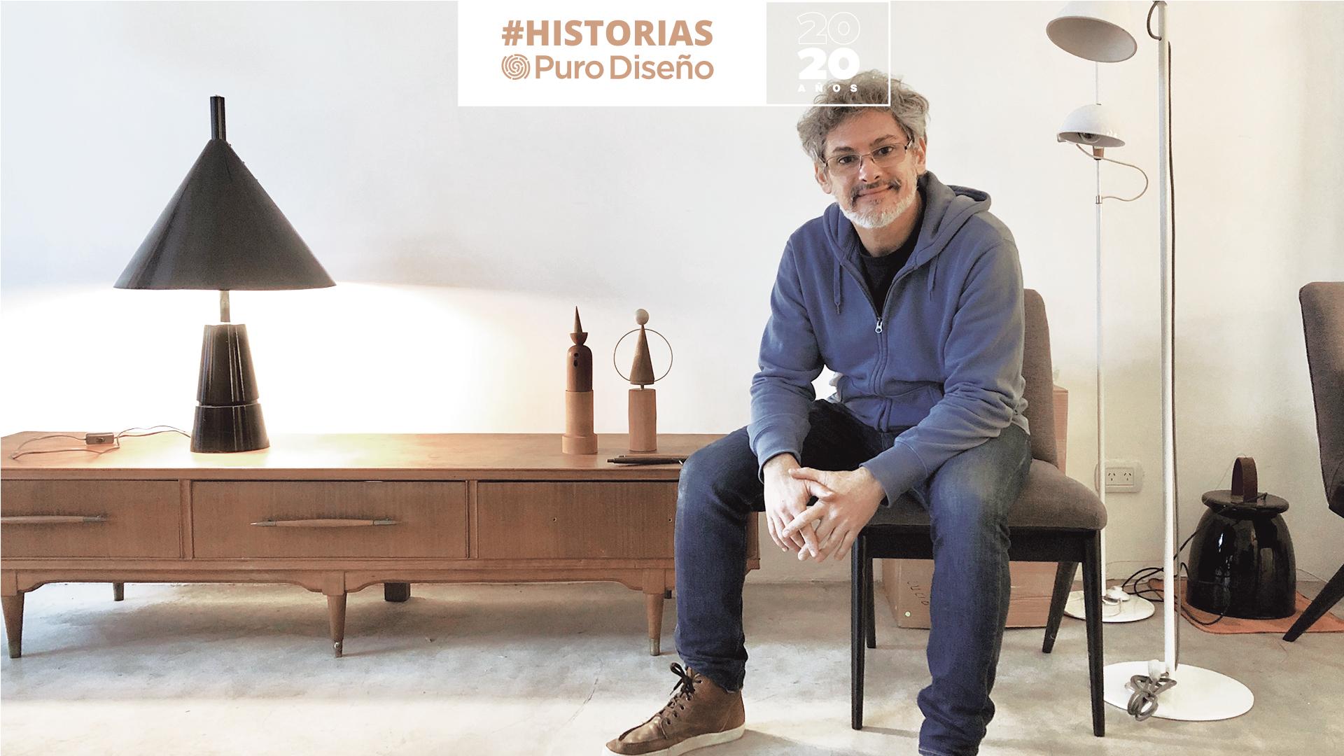 Juan Diciervo en su taller