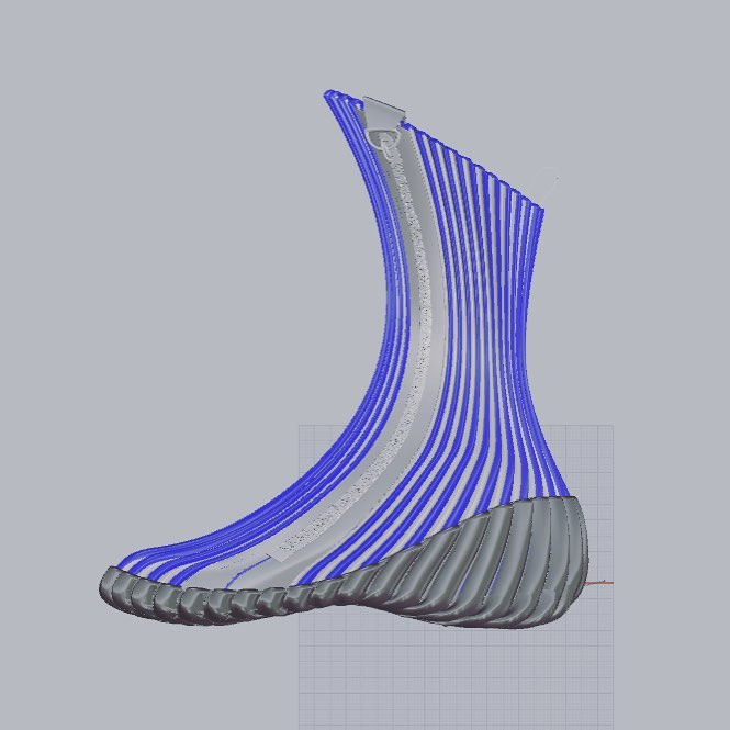 este proyecto imagina cuál sería el calzado que pisaría nuevos mundos