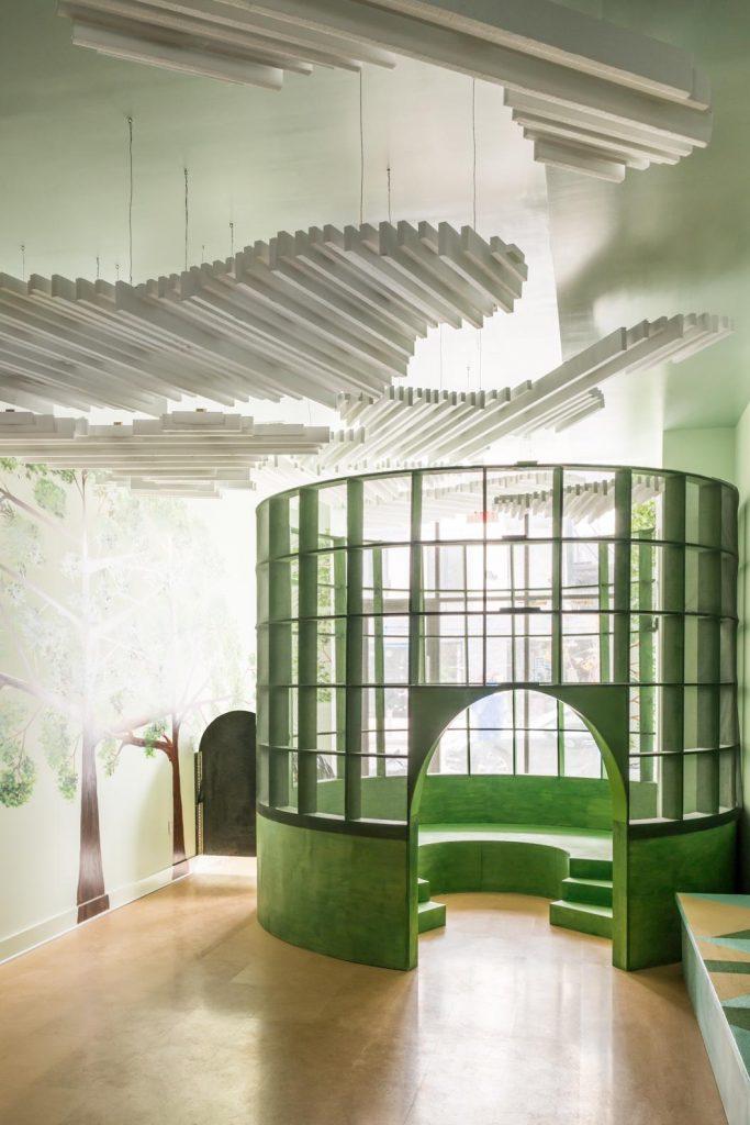 Patio en Brookling. Arquitectura