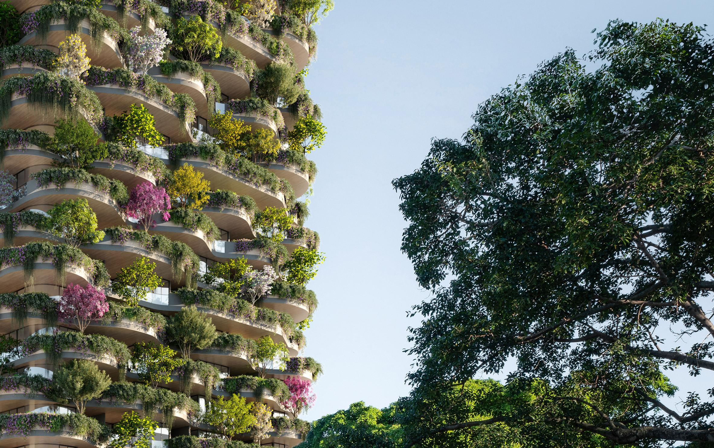 Un bosque en forma de rascacielo