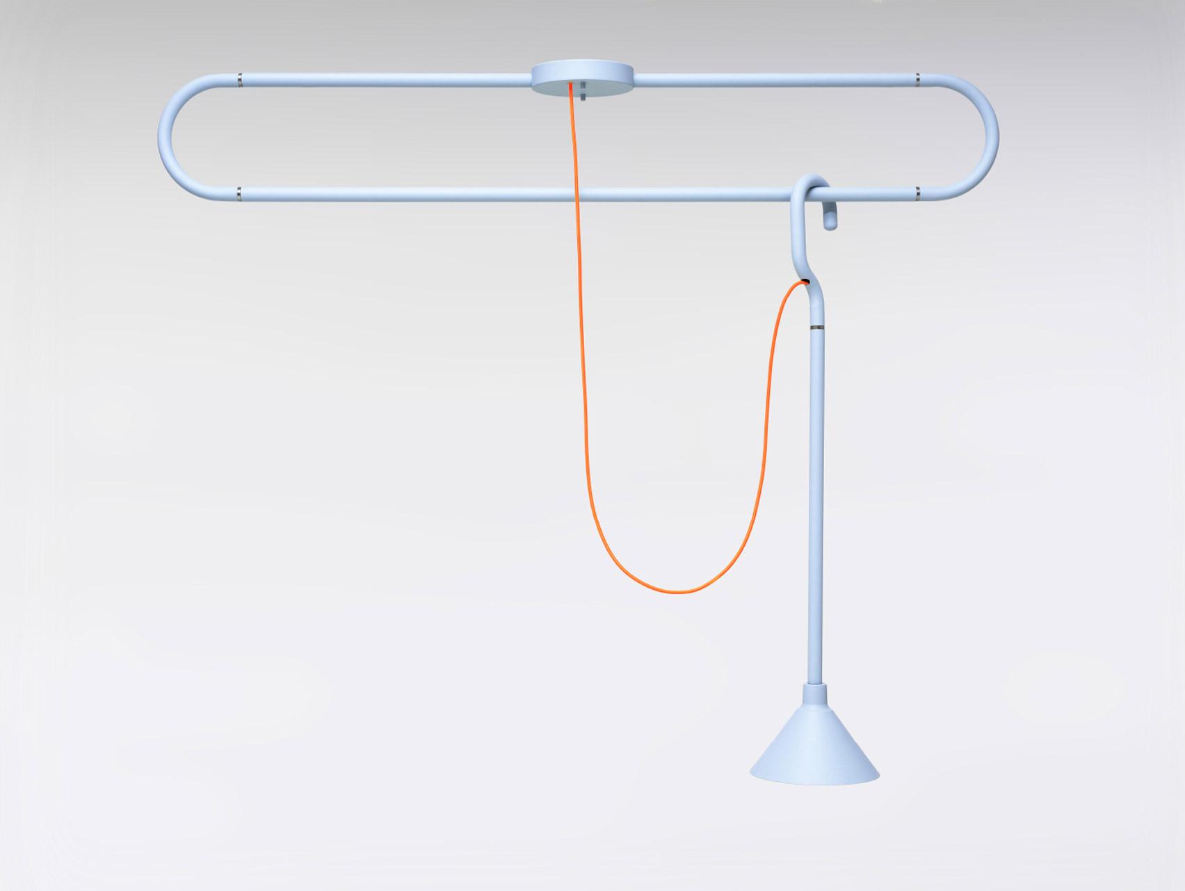 Lámpara inspirada en un gancho