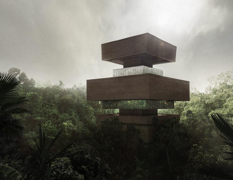 Museo en la selva mexicana