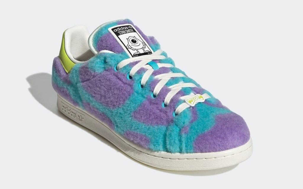 La zapatilla de adidas inspirada en Monsters Inc. de Pixar.