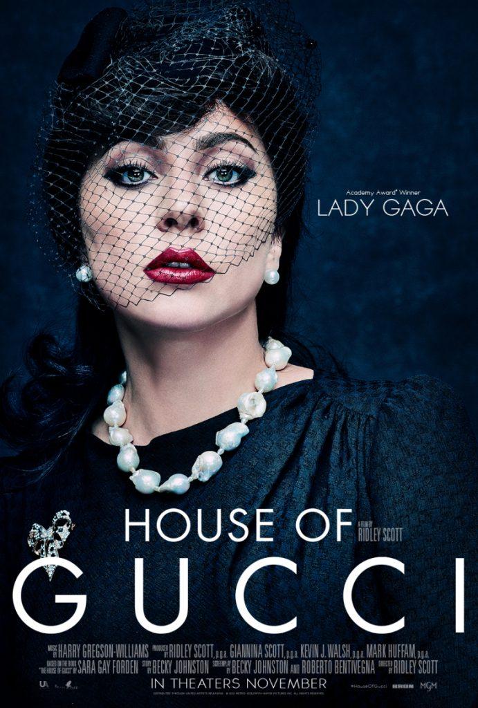 Lady Gaga en el póster de House of Gucci.