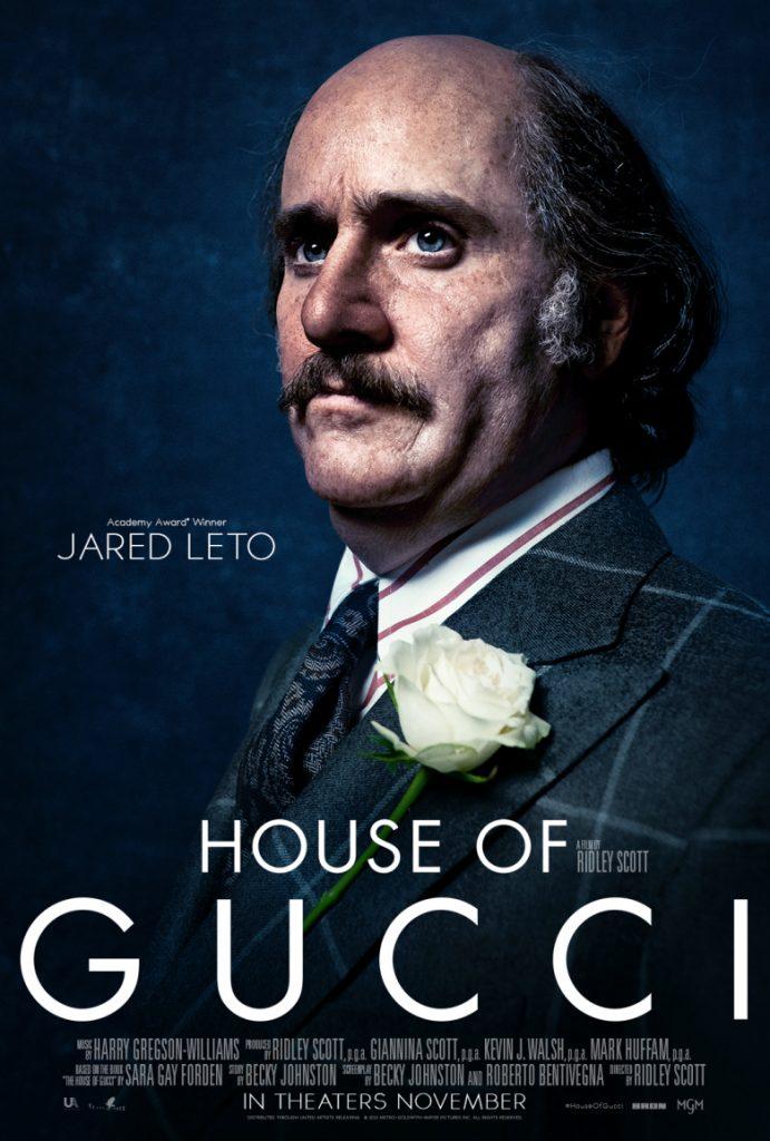 En House of Gucci Jared Leto ofrece otra gran transformación física.