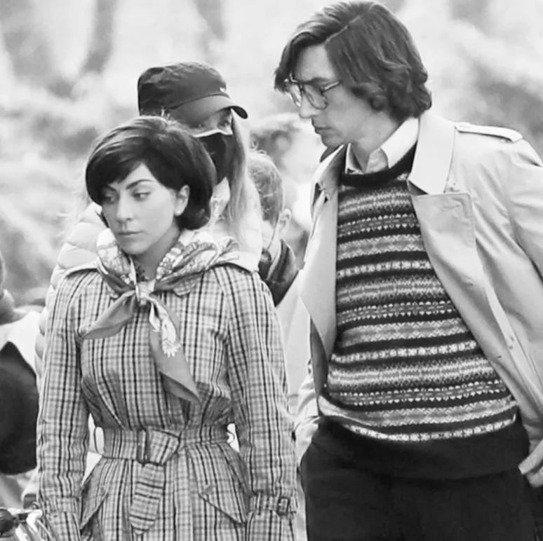 Lady Gaga y Adam Driver como Patricia Reggiani y Maurizio Gucci, la pareja de la biopic House of Gucci.