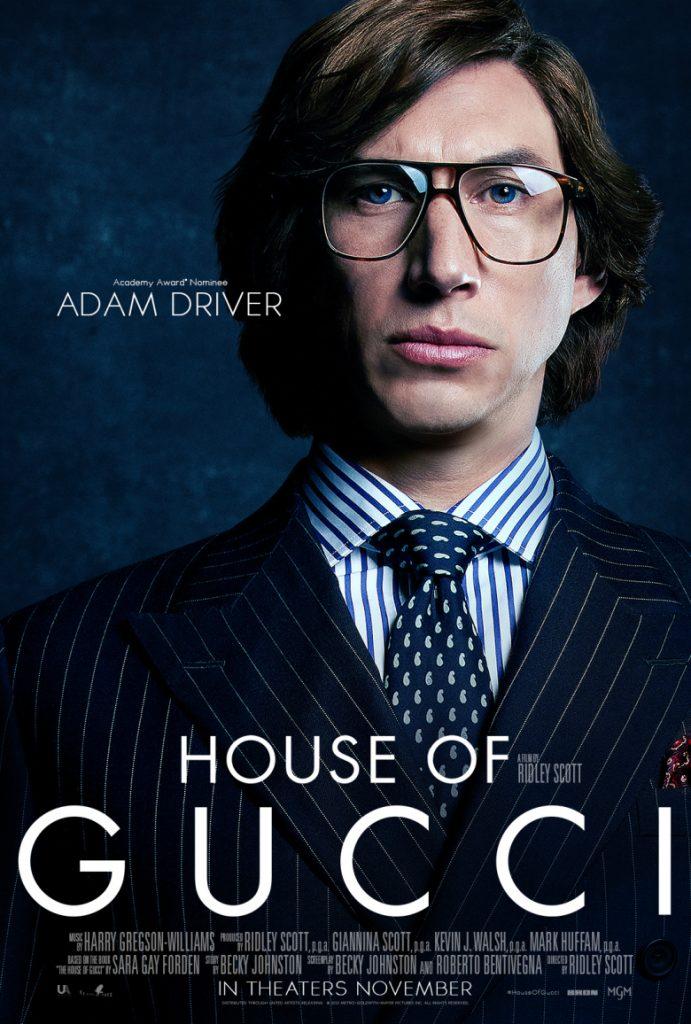 Adam Driver, estrella de House of Gucci de Ridley Scott.