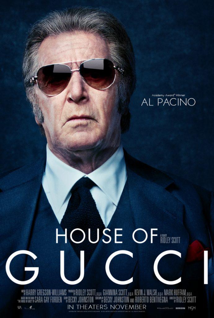 Al Pacino interpeta al fundador de la casa de moda en House of Gucci.