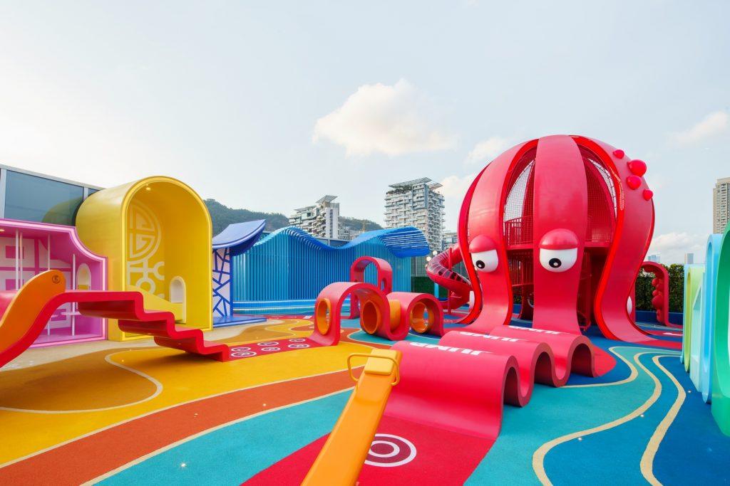 Octopus Kingdom, en la terraza de un centro comercial en China.