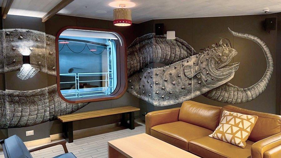 La obra de Alexis Diaz en el crucero.