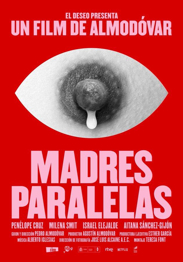 El póster de Madres Paralelas, el nuevo film de Pedro Almodóvar.