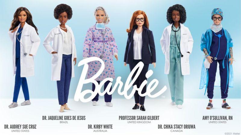 Cada muñeca Barbie científica está inspirada en mujeres pioneras y símbolo de la ciencia y la lucha contra la pandemia.