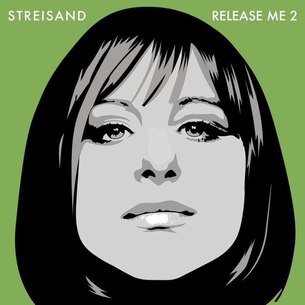 """Barbra Streisand eligió un retrato histórico para """"Release Me 2"""" y jugó en diferentes colores."""