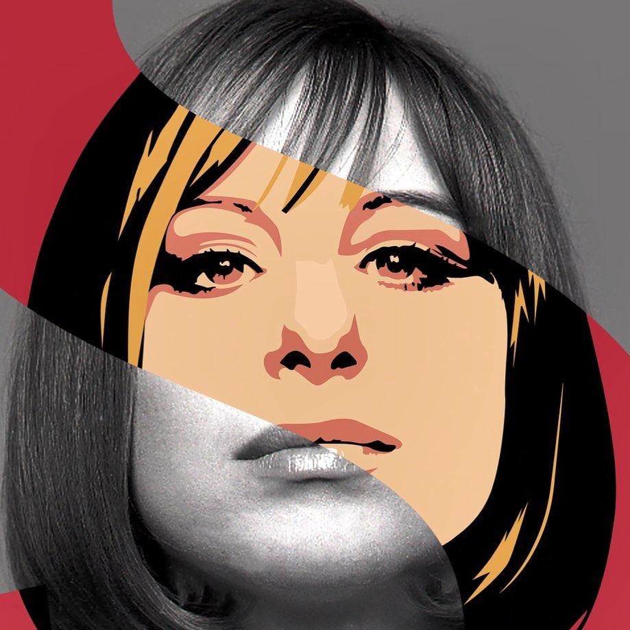 La foto de Barbra Streisand detrás del retrato multiplicado para su nuevo álbum.
