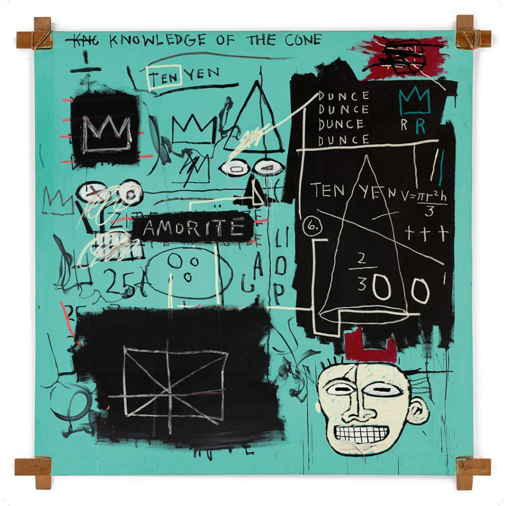 La obra de Basquiat con los colores de Tiffany.