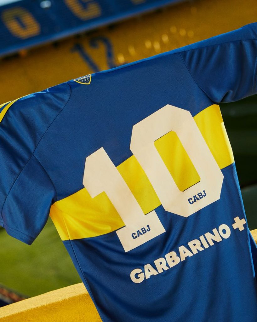 La camiseta adidas de Boca número 10 que usó Maradona en el Metropolitano 1981. Foto: gentileza adidas.