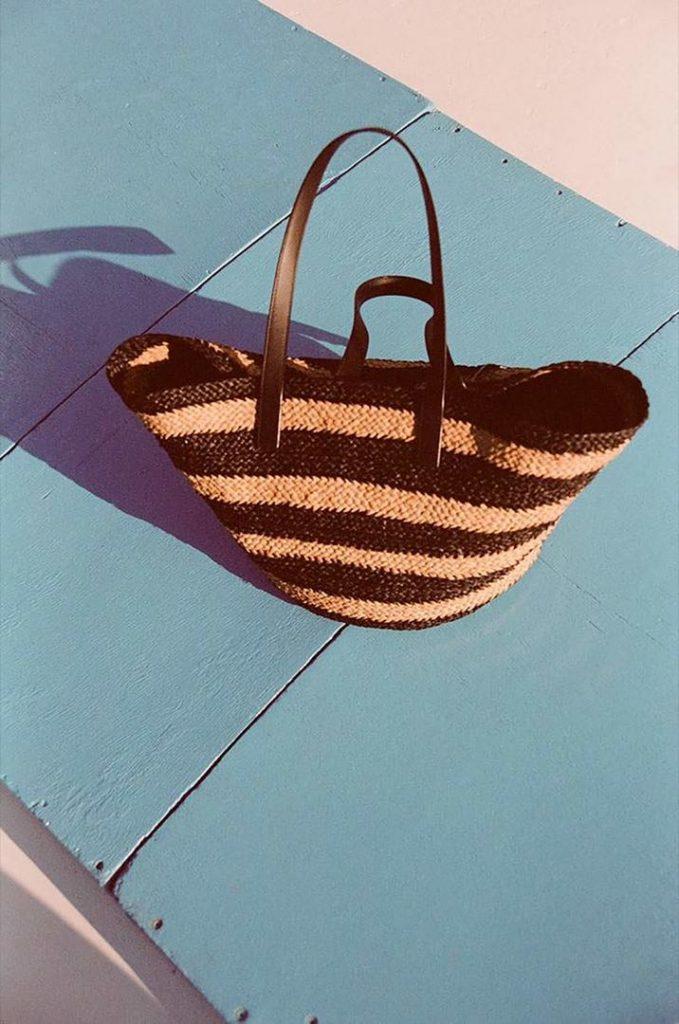 Una bolsa de playa de Saint Laurent Rive Droite