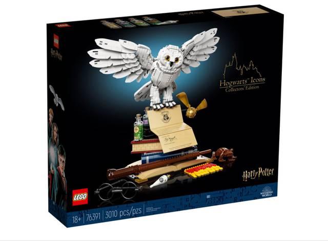 La lechuza Hedwig, protagonista del set Harry Potter Hogwarts Icons Collector's Edition de Lego.