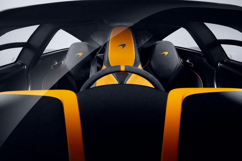 El interior del McLaren Speedtail es comparado al de un avión de combate.