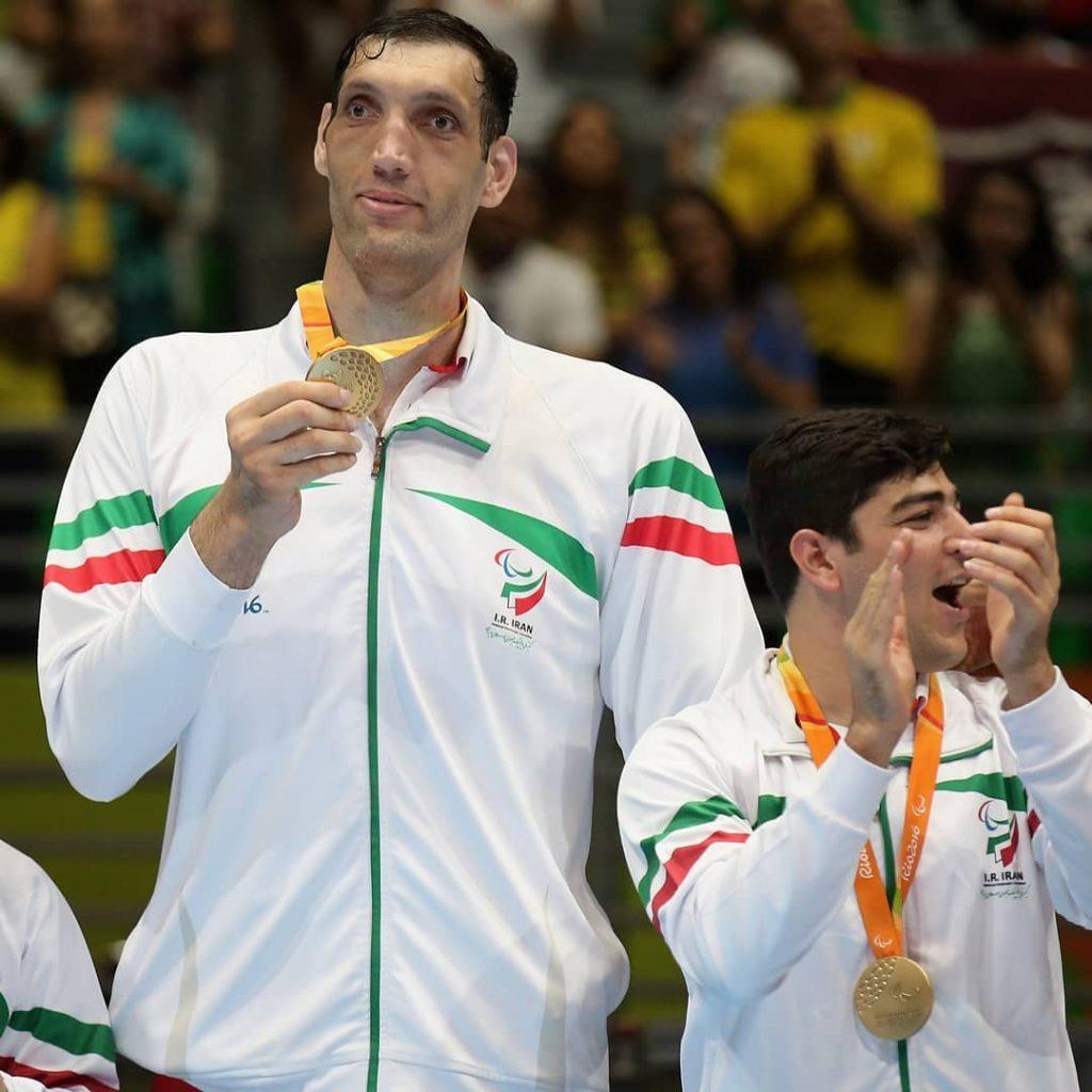 Morteza Mehrzad (Irán, 33 años),  figura de los Juegos Paralímpicos en la disciplina vóleibol sentado. Foto: IG