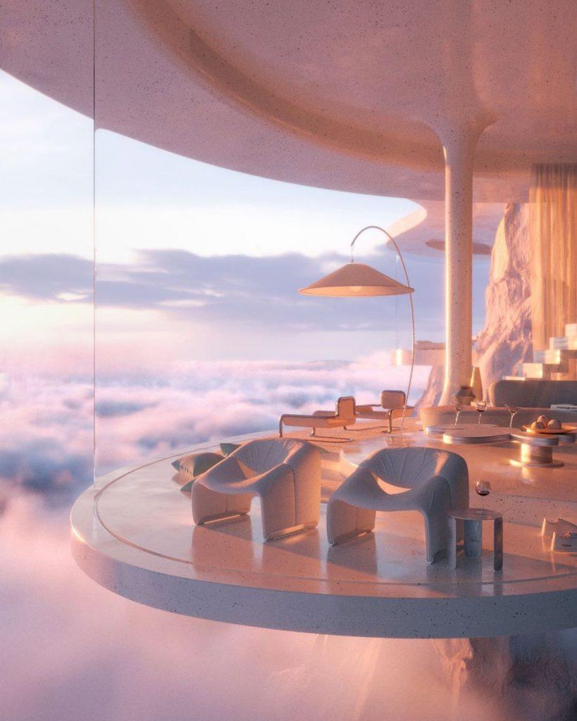 """Un hogar con vista a las nubes, el sueño hecho """"realidad"""" por Joe Mortell:"""