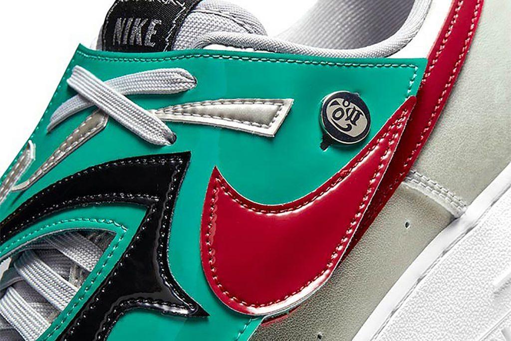 """Detalle de la zapatilla Nike de Lucha Libre que """"sube al ring""""."""