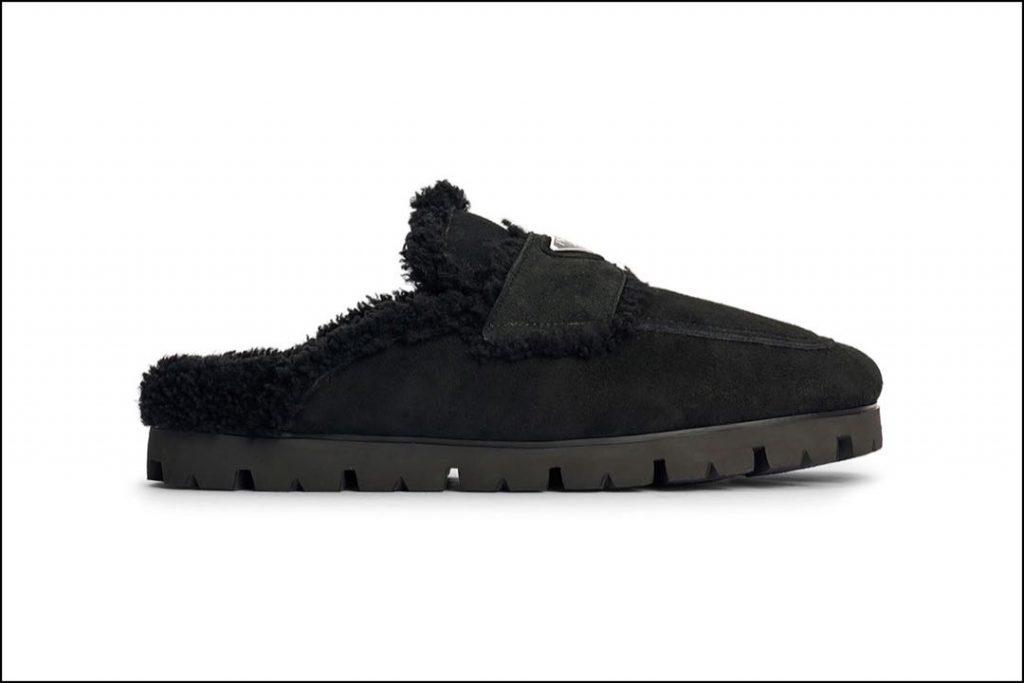 Las slippers de Prada, acolchadas y suaves.