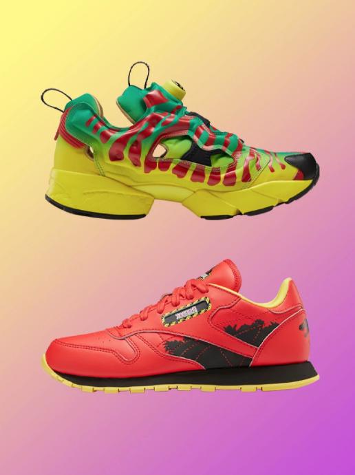 Coloridas y de inspiración salvaje. Así son las zapatillas Reebok de Jurassic Park.