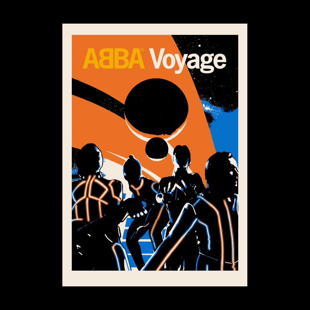 El póster retro futurista del regreso de Abba.