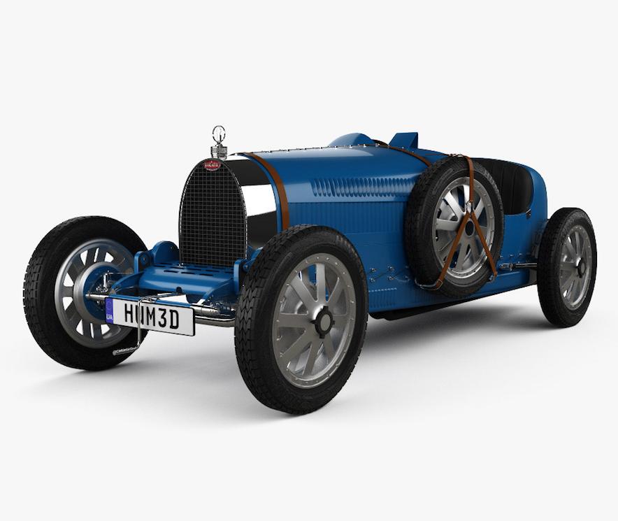 La silueta de la cafetera The Brew está inspirada en el automóvil Bugatti Type 35.