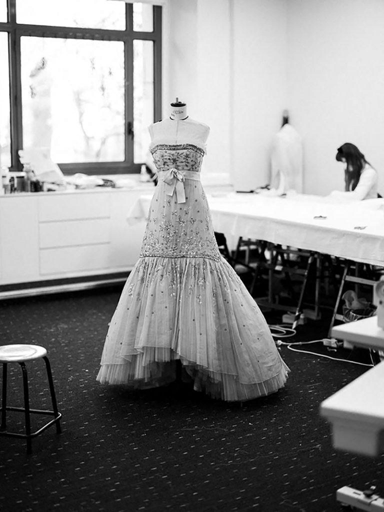 """El vestido Chanel de """"Spencer"""" es un diseño de la colección Chanel Primavera / Verano 1988 Haute Couture."""