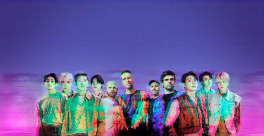 """Coldplay y BTS interpretan juntos """"My Universe"""". Foto: gentileza Warner Music Argentina."""